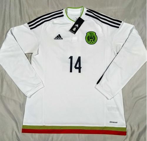 60168357cb1d6 Chicharito México Manga Larga 2015 adidas Jersey Blanco