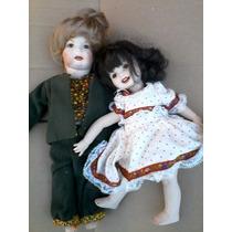 Muñecos Antiguos De Porcelana