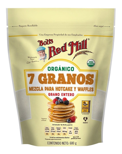 Bob's Red Mill Harina De 7 Granos Org Para Hot Cakes