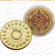 Moneda Calendario Azteca 2013 Bañada En Oro De Coleccion