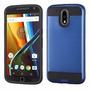 Funda Case Moto G4 Plus Doble Protector De Uso Rudo Azul