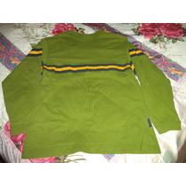 Sudadera Old Navy Verde C Amarillo De Niño Talla 10-12