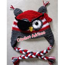 Gorro Búho Pirata Tejido Bebés Crochet