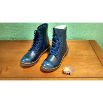 Botas/botín De Mujer Capa De Ozono Azul