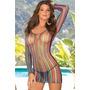Lenceria Sexy Mini Vestido Multicolor Envio Gratis +tanga