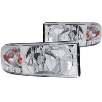 Dodge Ram 94-01 Crystal H.l Chrome With Led Amber