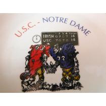 Plato American College Football U.s.c Notre Dame Sport Retro