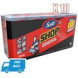 10 Rollos Toalla Scott Shop Multiuso  Aceite Grasa Envio