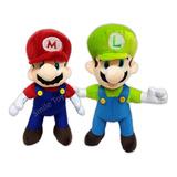 Peluche Mario Y Luigy Bros Excelente Calidad Bordado 30cm