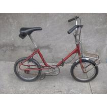 Bicicleta Antigua Plegable Rodada 16 De Los Años 70s