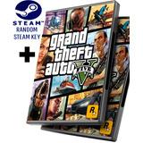 Random Steam Key + Gta 5 V - Grand Theft Auto 5 V Español - Pc Windows + Regalo