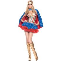 Disfraz De Super Heroe Para Damas, Envio Gratis