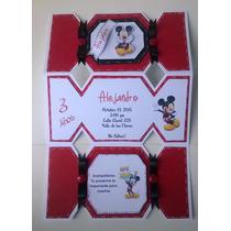 Invitaciones Artesanales Infantiles (candy Mickey Mouse)