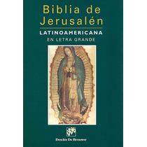 Biblia De Jerusalén Latinoamericana En Letra Grande