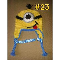 Gorro Minion Mi Villano Favorito Tejido Crochet Varios Mods.