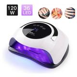 Lampara Led Uv Sun 120 Watts Digital Sensor Uñas Gel Acrilic