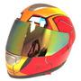 Casco Motocicilista Iron Man Deportivo Dual Visor Dot Bike