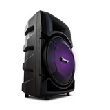 Bocina Vorago Ksp-300 Portátil Con Bluetooth Negra 110v/240v