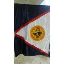 Bandera America Retro Cosida Azul Crema