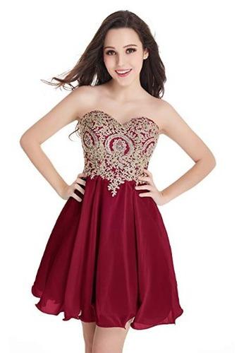 11387e4db Baby Vestido Corto Para Niñas Fiesta Graduacion Baile Vino 0 en ...