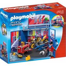 Playmobil 6157 Taller Mecanico D Motos Ciudad Retromex