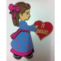 Figura De Foamy Niña Con Corazon Amor Fomi