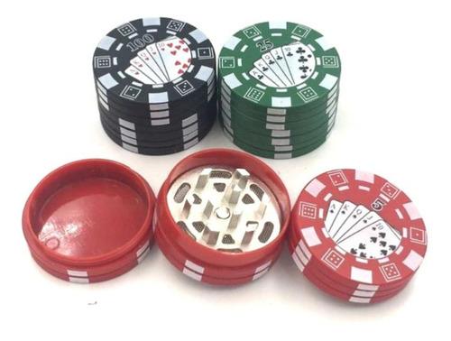Grinder Molino Polinizador Triturador Poker Negro Imán 40mm