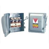 2 Cajas Metálicas Royer Para Fusibles 3x30 Amp De Cuchillas