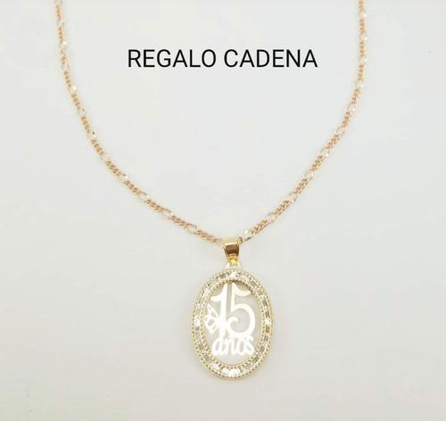 ba83e2f627c0 Hermosa Medalla 15años Oro 10k Y Cadena Tipo Cartier en venta en ...