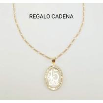 364257f6b423 Hermosa Medalla 15años Oro 10k Y Cadena Tipo Cartier en venta en ...