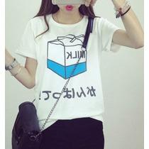 T-shirt Milk / Moda Japonesa / Moda Asiática /kpop /anime