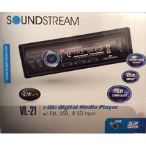 Auto Estéreo Reproductor De Mp3 Usb Sd Radio Fm Soundstream