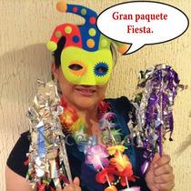Paquete Fiesta Carnaval,batucada,maraca,antifaz, Boda.