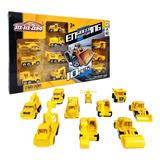 Set Vehículos Camiones De Construcción Escala 1:64 Juguete