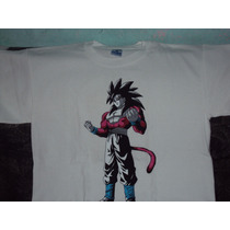 Playera Dragon Ball Z Gt De Goku Super Sayayin 4 Talla M
