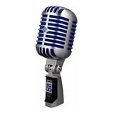 Micrófono Shure Super 55 Dinámico Cromado/azul