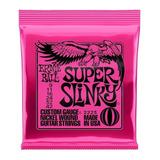 Encordadura Ernie Ball  Super Slinky  Para Guitarra Electrica, Rosa Mod. 2223