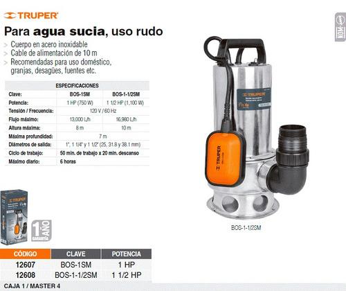 Bomba sumergible p agua sucia 1 1 2 hp 2 en - Bombas de agua sucias ...