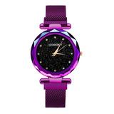 Reloj Para Mujer Broche Imán Corte Diamante Escoge Color