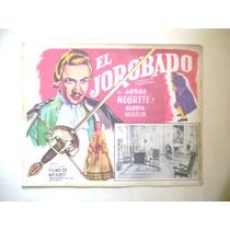 El Jorobado Jorge Negrete Lobby Card Cartel Poster C