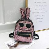 Conejo Bolso De Hombro Moda Lentejuelas Conejo