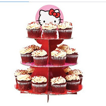 Base Para Cupcakes De Hello Kitty Mas 50 Capacillos Iguales