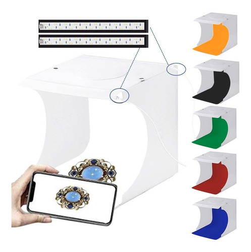 Caja De Luz Para Fotografía, Pequeña Y Portátil