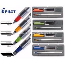 4 Plumas Para Caligrafia Parallel Pen Pilot + 12 Cartuchos