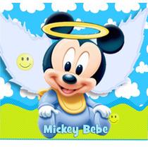 Kit Imprimible Bautismo Mickey Bebe Angelito Con Foto Y Mas