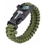 Pulsera Tactica Supervivencia Pedernal Paracord