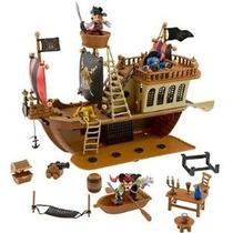 Mickey Deluxe Ratón Piratas Del Caribe Barco Pirata Set De J