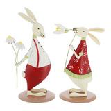 Figura De Metal Para Navidad, Diseño De Conejo De Pascua