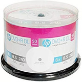 Dvd+r Dl (doble Capa 8.5gb) Imprimible Marca Hp 50 Pzs Descr