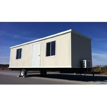 Caseta Camper Oficina Movil Nva 8x28 Pies C/ Wc Y Priv. P/ 6